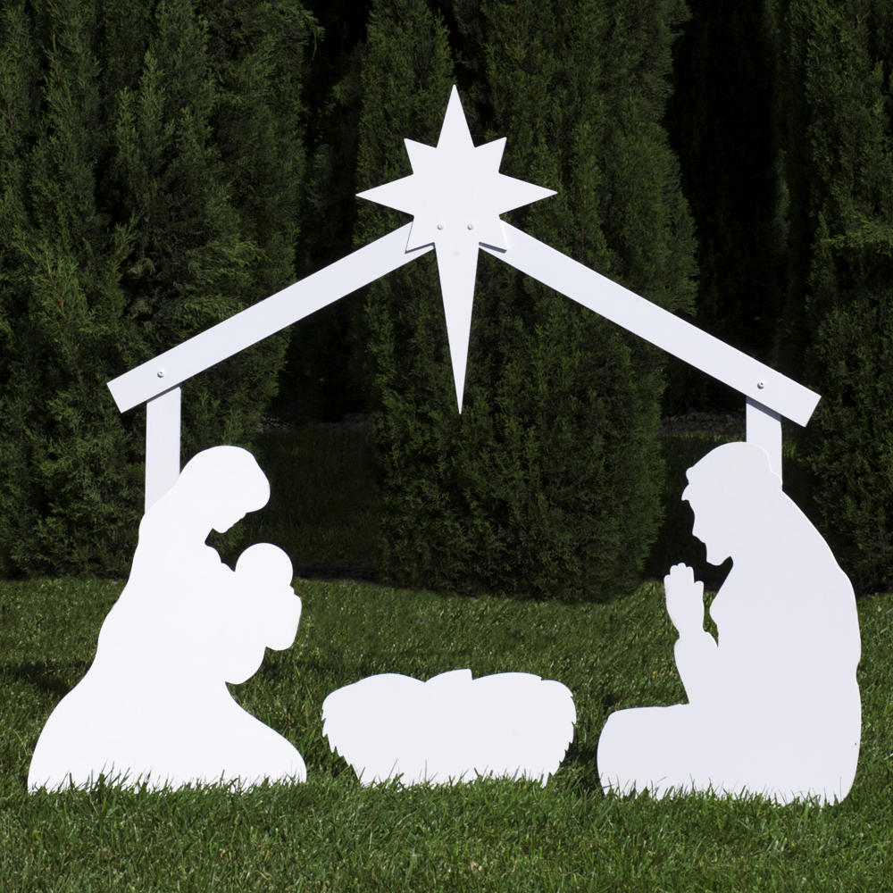 Simple Nativity Scene Silhouette silhouette outdoor nativity set ...