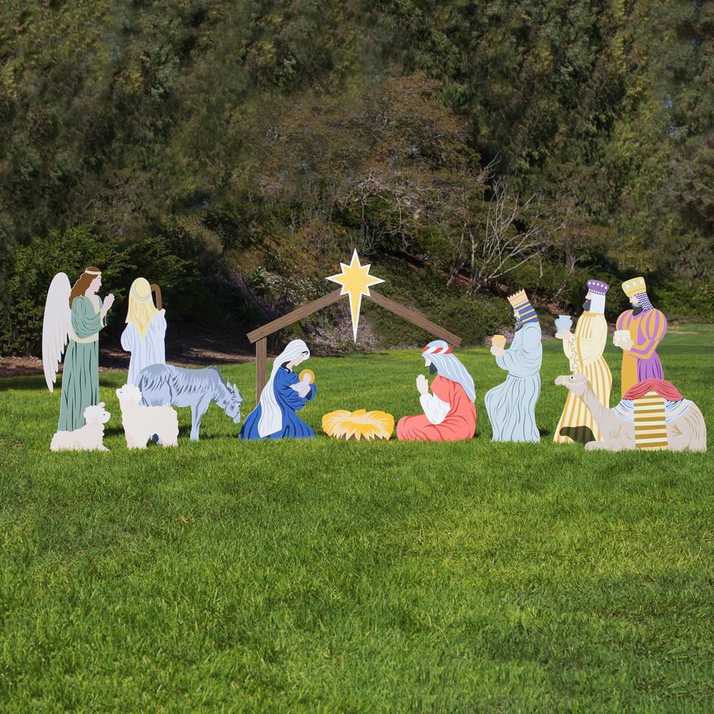 Large Classic Outdoor Nativity Set - Full Scene   Outdoor ...