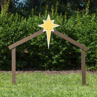 Nativity set stable 100 large silhouette outdoor nativity set stable