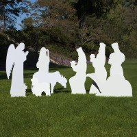 Large Silhouette Outdoor Nativity Set – 9-piece Add-on Set