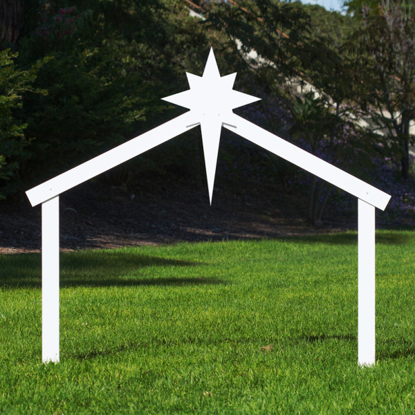 Silhouette outdoor nativity set stable outdoor nativity store