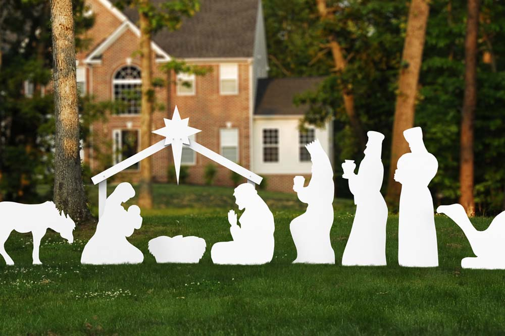 large outdoor nativity set home decoration