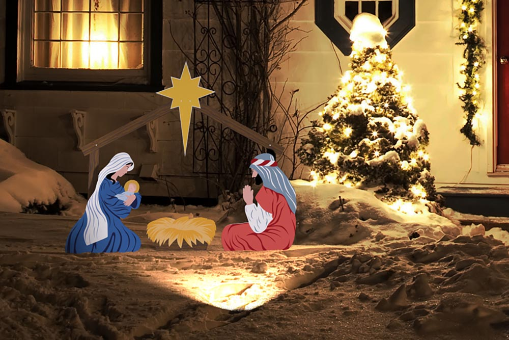 Ultimate guide to different types of outdoor nativity sets outdoor outdoor nativity scene with light in snow workwithnaturefo