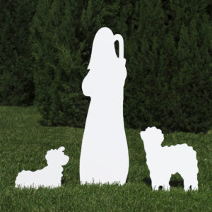 Silhouette of Shepherd Figure